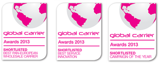 "Capacity Award Shortlistings 2013, ""best-pan-european-wholesale-carrier"", ""campaign-of-the-year"" & ""best-service-innovation"""
